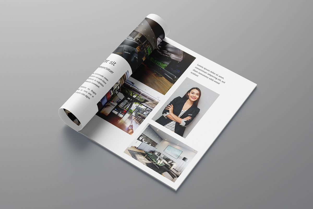 Formatação de revista de decoração