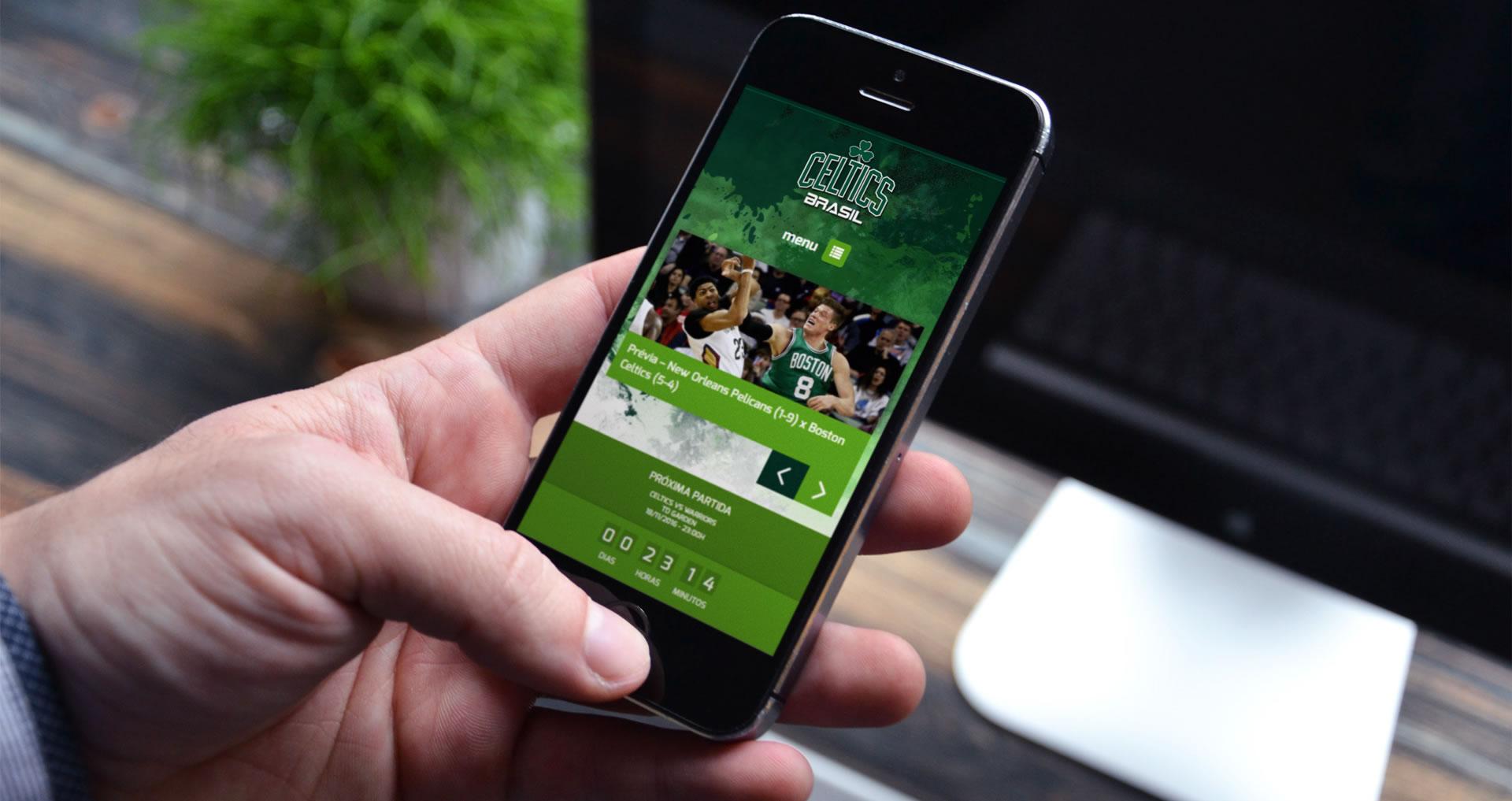 Celtics Brasil - Desenvolvimento de website responsívo