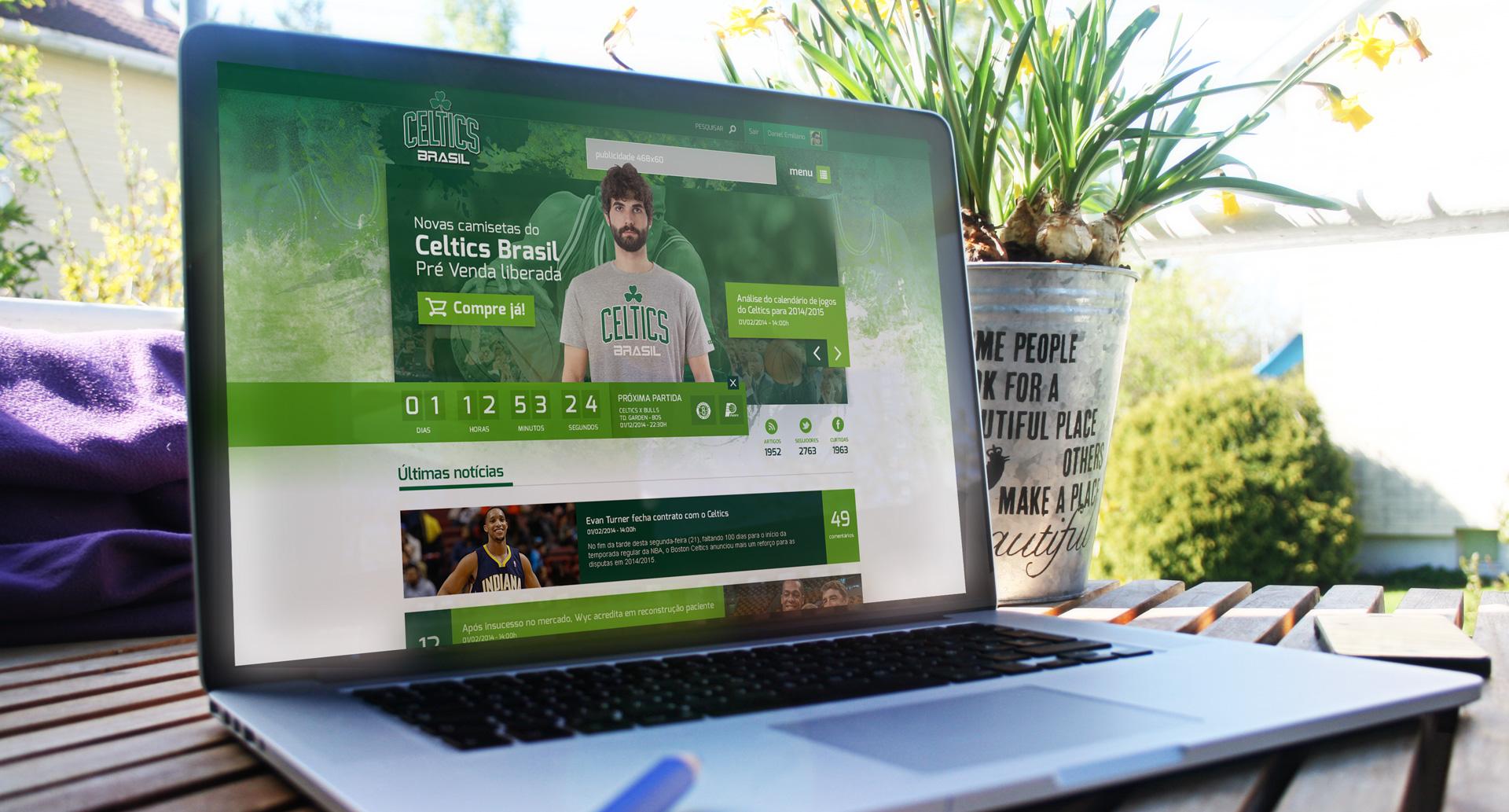 Celtics Brasil - Criação de website / Portal de notícias / Blog em Wordpress